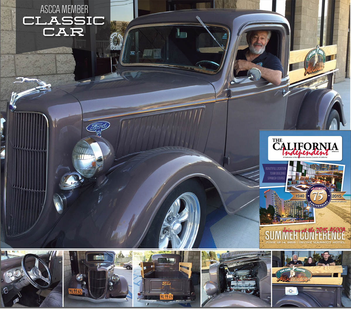 """My 1936 Ford Pickup Truck"" by John Modesti Owner of Modesti's Car Care Center"